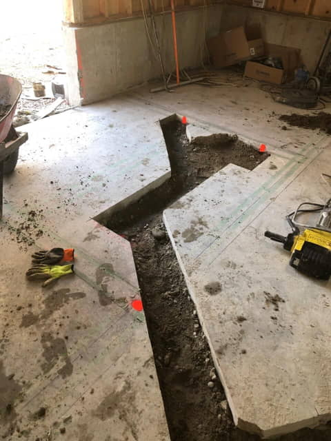 concrete cutting for plumbing installation