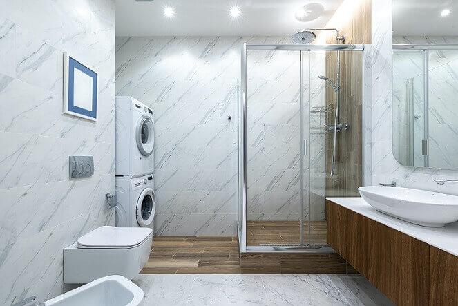 bathroom updated for plumbing efficiency